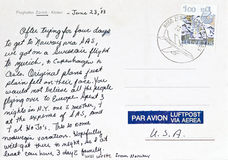 Postal de Zurich Imagen de archivo