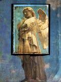 Postal del ángel - fondo del grunge foto de archivo