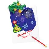 Postal del Año Nuevo Imagen de archivo libre de regalías