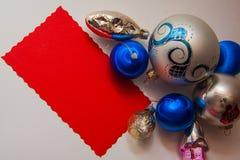Postal del Año Nuevo foto de archivo libre de regalías