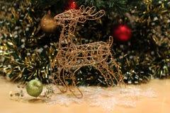 Postal del Año Nuevo y de Cristmas Imagen de archivo libre de regalías