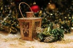 Postal del Año Nuevo y de Cristmas Imagen de archivo