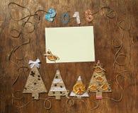 Postal del Año Nuevo y de la Navidad Imágenes de archivo libres de regalías