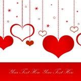 Postal del amor ilustración del vector