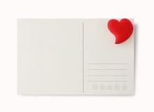 Postal del amor Fotos de archivo libres de regalías