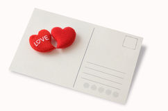 Postal del amor Imagenes de archivo