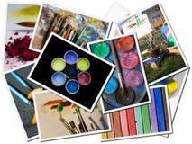 Postal del arte Fotografía de archivo libre de regalías