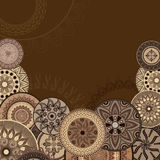 Postal del chocolate Fotografía de archivo libre de regalías