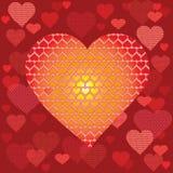 Postal del corazón Stock de ilustración