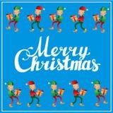 Postal del cuadrado de la caligrafía de las letras de la mano de la Feliz Navidad Fotografía de archivo