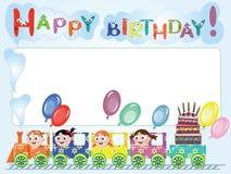 Postal del cumpleaños Fotografía de archivo libre de regalías