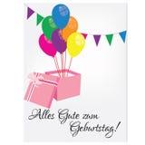 Postal del cumpleaños con feliz cumpleaños Fotos de archivo