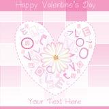 Postal del día de tarjeta del día de San Valentín ilustración del vector