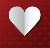 Postal del día de tarjeta del día de San Valentín Fotografía de archivo libre de regalías