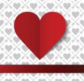 Postal del día de tarjeta del día de San Valentín Foto de archivo libre de regalías