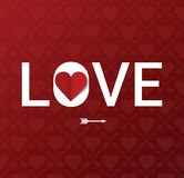 Postal del día de tarjeta del día de San Valentín Fotos de archivo libres de regalías
