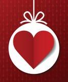 Postal del día de tarjeta del día de San Valentín Imágenes de archivo libres de regalías