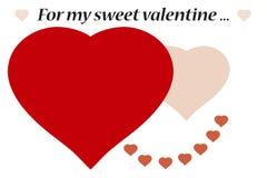 Postal del día de tarjetas del día de San Valentín stock de ilustración