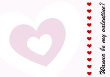 Postal del día de tarjetas del día de San Valentín libre illustration