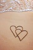 Postal del día de tarjetas del día de San Valentín Fotos de archivo libres de regalías