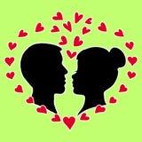 Postal del día de tarjetas del día de San Valentín Fotografía de archivo libre de regalías