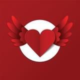 Postal del día de tarjetas del día de San Valentín del vector con el corazón Foto de archivo libre de regalías