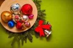 Postal del deseo de la Navidad imagenes de archivo