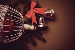 Postal del deseo del Año Nuevo fotos de archivo libres de regalías