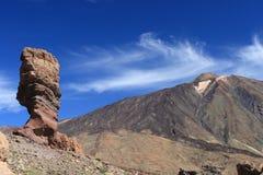Postal del EL Teide Imagen de archivo libre de regalías