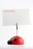 Postal del escarabajo Imagen de archivo libre de regalías