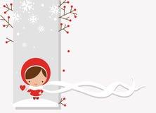 Postal del invierno Fotografía de archivo