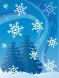 Postal del invierno ilustración del vector
