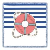 Postal del mar del vector Imagen de archivo libre de regalías
