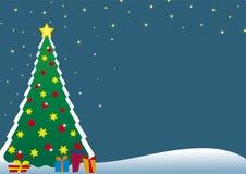 Postal del árbol de navidad Fotos de archivo libres de regalías