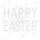 Postal del regalo con las estrellas y las palomas brillantes para el día feliz de Pascua Foto de archivo