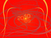 Postal del vector por un Año Nuevo ilustración del vector