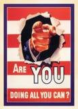 Postal del vintage de los E.E.U.U. imagenes de archivo
