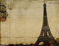 Postal del vintage de París Imágenes de archivo libres de regalías