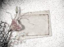Postal del vintage para la invitación con el manojo de rosas Imagen de archivo libre de regalías
