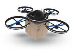 Postal Drone Isolated Royalty Free Stock Image
