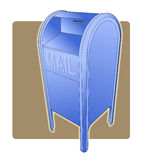 Postal Drop Box. Three point perspective illustration of a postal drop box stock illustration