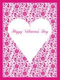postal el el día de tarjeta del día de San Valentín Fotos de archivo libres de regalías