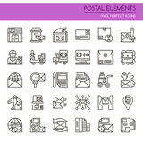 Postal Elements royalty free illustration