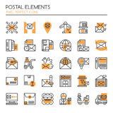 Postal Elements vector illustration