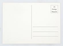 Postal en blanco Foto de archivo