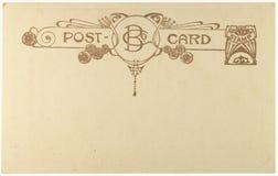 Postal en blanco de la vendimia Fotos de archivo libres de regalías