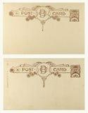 Postal en blanco de la vendimia Imágenes de archivo libres de regalías