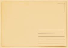 Postal en blanco del Grunge backside Textura (de papel) arrugada Con el lugar su texto, uso del fondo fotografía de archivo libre de regalías