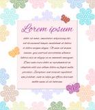 Postal en colores pastel del ornamento Imagen de archivo libre de regalías