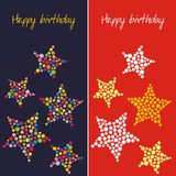 Postal en cumpleaños Foto de archivo